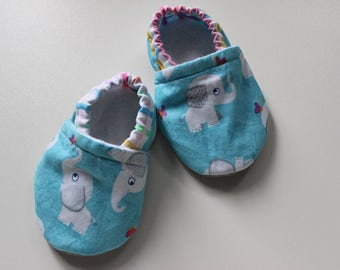 Soft sole baby shoes booties boy shoes girl shoes  baby gift elephant booties elephant crib shoes Baby shoes with animals