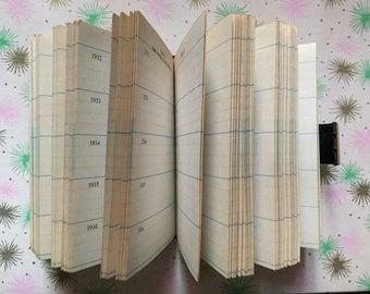 Daily planner diary unused blank 1932-1936