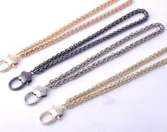 1pcs 20cm gold silver black Metal Replacement Chain Strap Aluminum Chain twist links Purse clutch bag wallet handbag snap clasp Crossbody