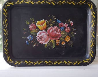 Vintage Metal Serving Tray