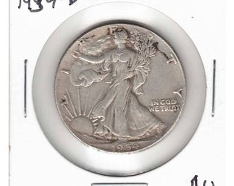 1934-D Walking Liberty Silver Half Dollar