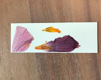 Pressed Flower Art Bookmark