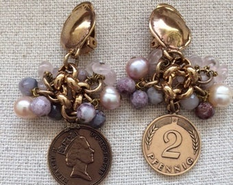 Nice earrings with coins