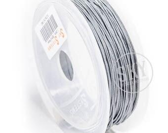 1.0 mm Silver jewelry Cord, Shamballa, nylon Shamballa cord, acrylic Shamballa knotting cord, Chinese Knotting Cord, Knot Cord Macrame