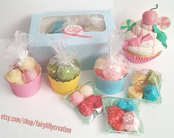 Set of 7 pack Wax Melts Cupcake Gift Box Various Scents Room Fragrance