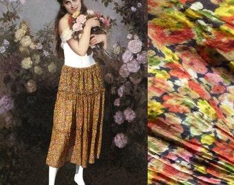 vintage 90s floral printed long skirt