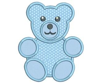 Teddy Bear Applique Embroidery Design, Teddy Machine Embroidery,  Baby Embroidery, 4x4, 5x7, 6x10, Instant Download Design No: FA531-6