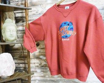 Vintage Embroidered Planet Hollywood Tourist Sweatshirt Nashville, Tn - Size XL