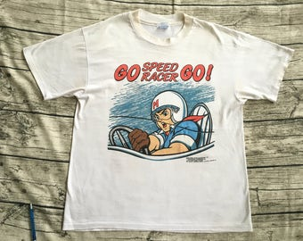 True Vintage SPEED RACER 1992 HANES Tag Anime Full Print T-Shirt Akira The Shell