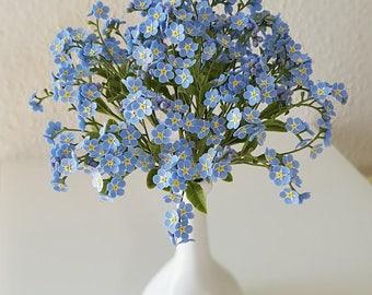 Flower decoration - home decoration - bouquet of forget-me-nots - flowers decorating - flower bouquet, home decor
