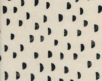 Moons in Black  // Cotton and Steel // Print Shop  // Basics // Quilters Cotton