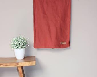 JOYKU Essential Linen Ring Sling - Waikura - Rust- Newborn Sling - Infant Wrap Carrier - Toddler Sling