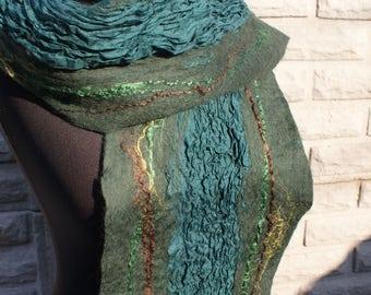 Nuno felted scarf / Валяный шарф