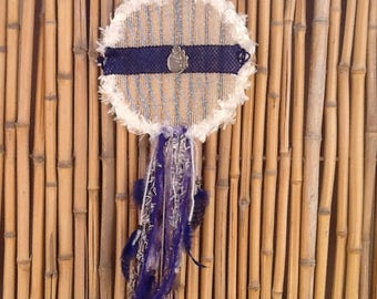 Blue Feather Beaded Dreamcatcher