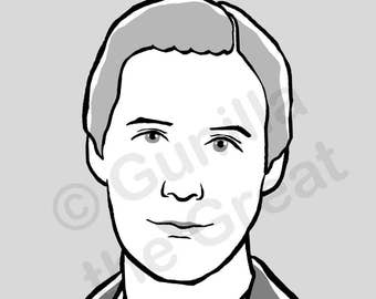 hand drawn profile picture for LinkedIn, facebook, twitter, google, etcetera