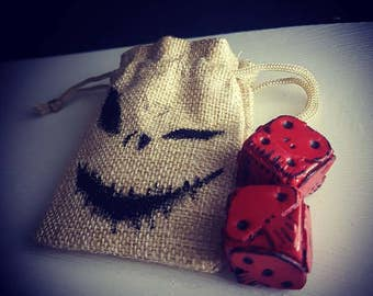 Oogie Boogie Loaded or Unloaded Dice : A Nightmare before Christmas
