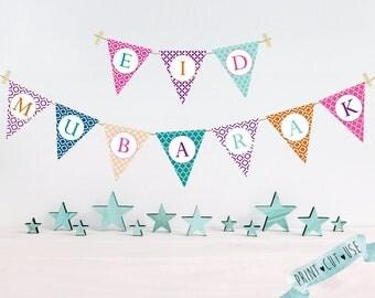 DIY Eid decorations, Digital Eid decorations, Printable Eid decorations, Eid decorations, Eid printable, Eid party decorations, Instant, DIY