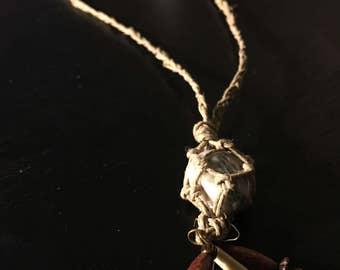 Hemp Wrapped Crystal Necklace