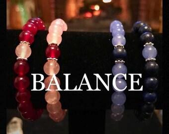 TWO Balance Bracelets Elastic Stretchy Positivity Friends Boyfriend Partner Healing Friendship Distance Bracelets Graduation Gift Grad