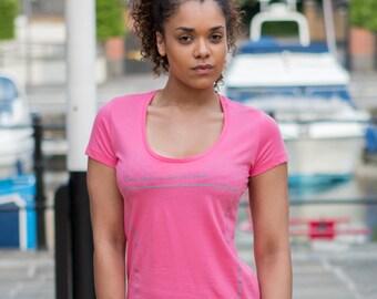 INSPIRATIONAL BLANK CANVAS Slogan Organic Cotton Eco-Friendly Pink T-Shirt