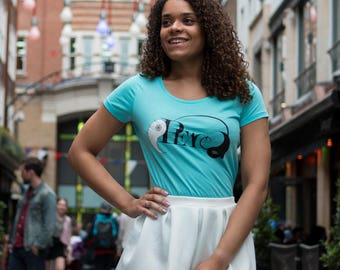 PEACE Statement Organic Cotton ECO-FRIENDLY Turquoise T-Shirt