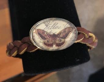 Butterfly braided bracelet