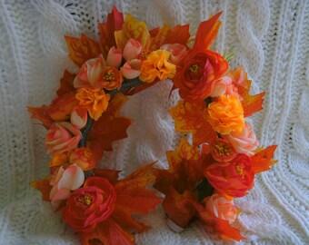 Autumn Fire Flower Crown