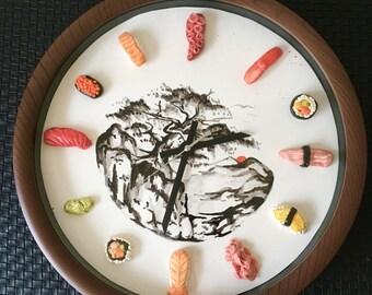 Handmade Sushi Clock