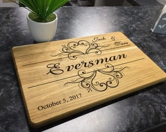 Personalized Cutting Board Wedding gift Housewarming gift Anniversary Gift for Couple Wood Chopping Board
