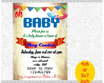 Baby Shower Invitations, Baby Shower, Baby Cute