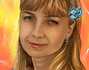 Digital portrait, drawing, graphic tablet, picture