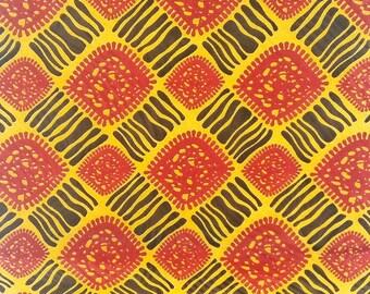 Wax printed cotton fabric