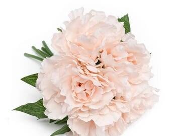 10 In. Silk Peony Bouquet