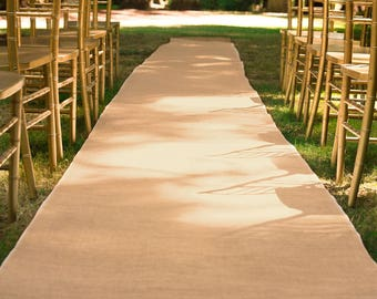 Wedding Aisle Runner Burlap Natural, Free Shipping