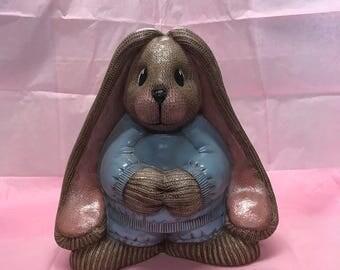 Ceramic sock bunny
