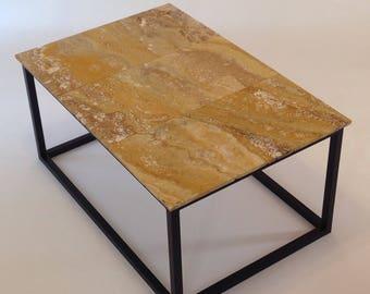 Travertine Stone coffee table