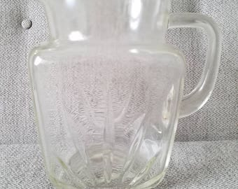 Federal Glass Pitcher Starburst Pattern