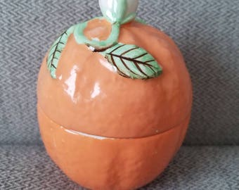 I.W.RICE Orange Jar