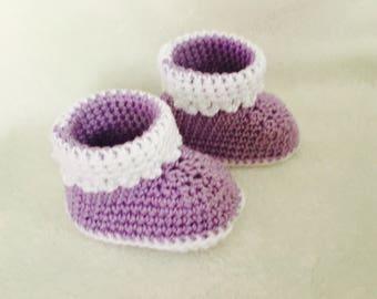 Boot baby purple newly born