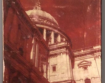 St. Pauls Cathedral, London UK. Glicee Photo Monotype, on stretched cotton canvas.