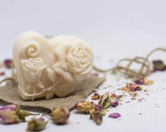 Natural honey-bee wax heart shaped soap