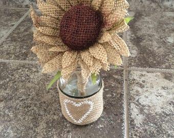 Burlap Flower Pen