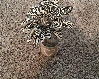 Zebra Print Flower Pen