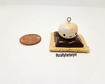 Smore Polymer Clay Charm Necklace