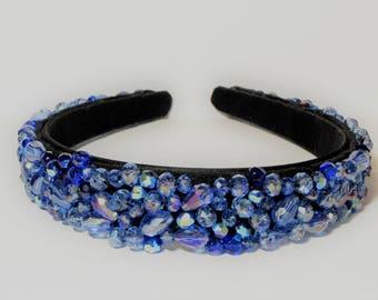 Hairband Blue Topaz