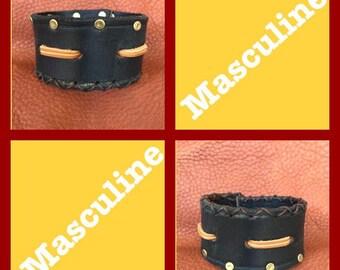 Masculine Leather Cuffs