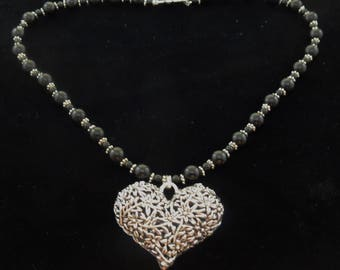 Pewter Heart pendant necklace