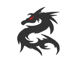 Dragon Embroidery file Digital embroidery files Machine embroidery