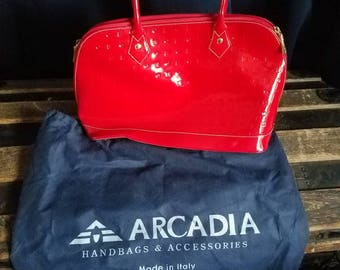 Arcadia red patent leather