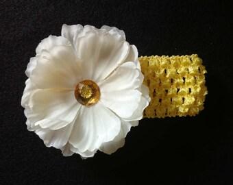 Golden Flower infant headband
